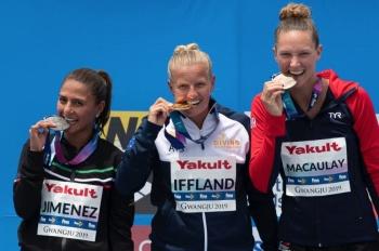Adriana Jiménez se cuelga la plata en clavados en Mundial de Natación