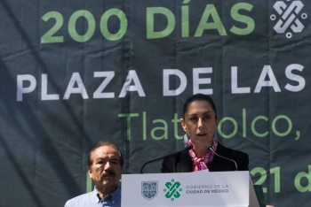 Piden claridad sobre recursos por informe de Sheinbaum en Tlatelolco