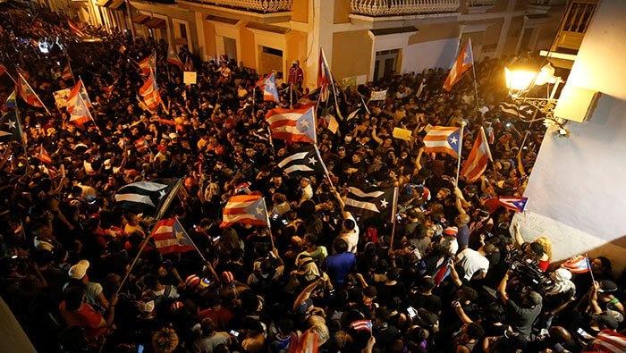 Celebran la renuncia de Rosselló en Puerto Rico