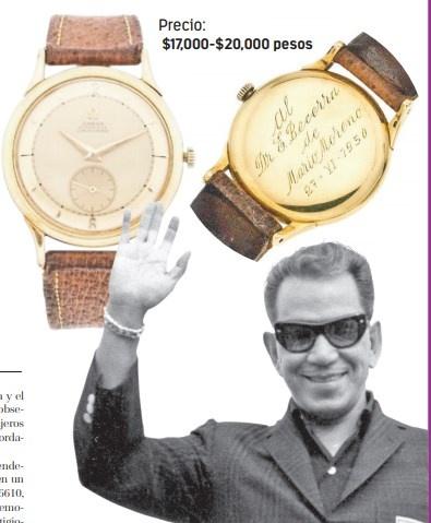 Arranca en 17 mil pesos venta de reloj de lujo que Cantinflas le obsequió a su médico