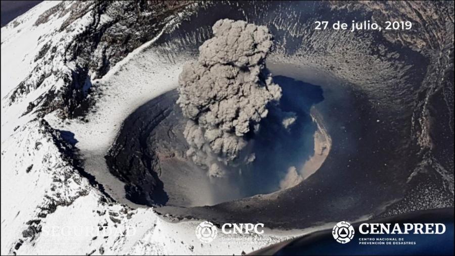 Confirman destrucción del domo 83 del Popocatépetl