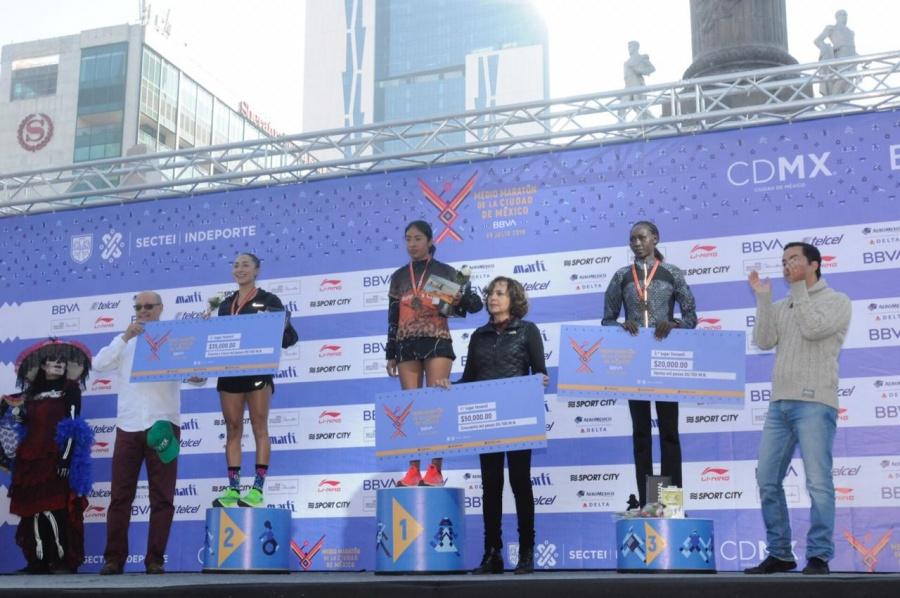 México y Kenia ganan Medio Maratón CDMX-BBVA 2019