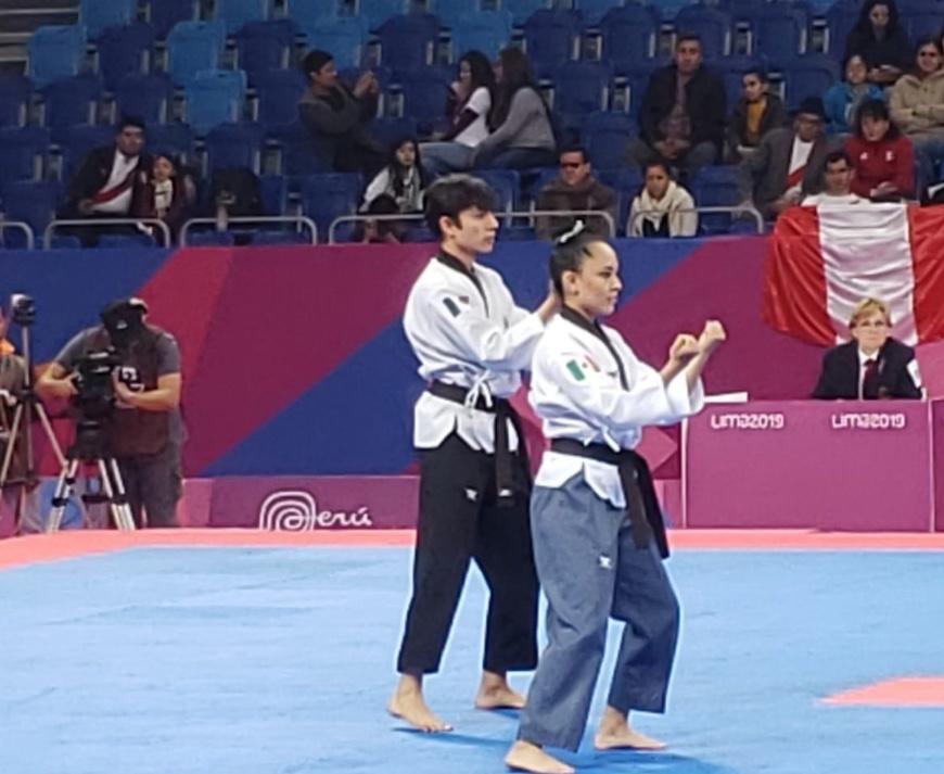 Ana Zulema Ibañez y Leonardo Juárez, ganan oro para México en Taekwondo Poomsae
