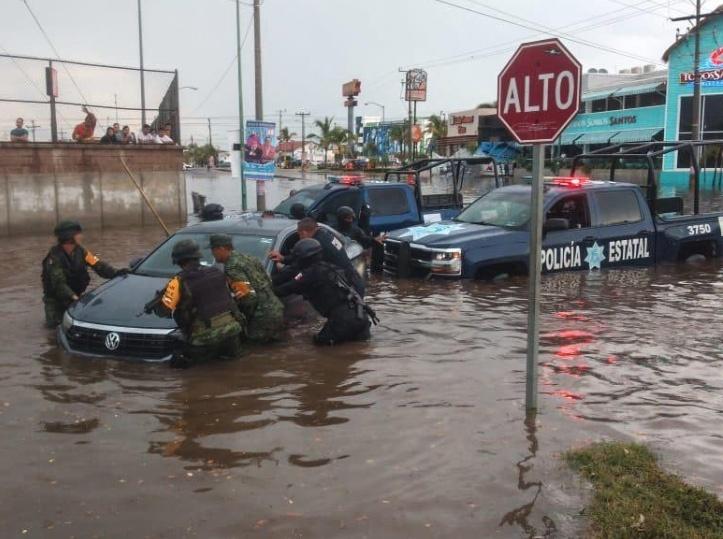 Sedena activa Plan DN-III, por lluvias en Mazatlán
