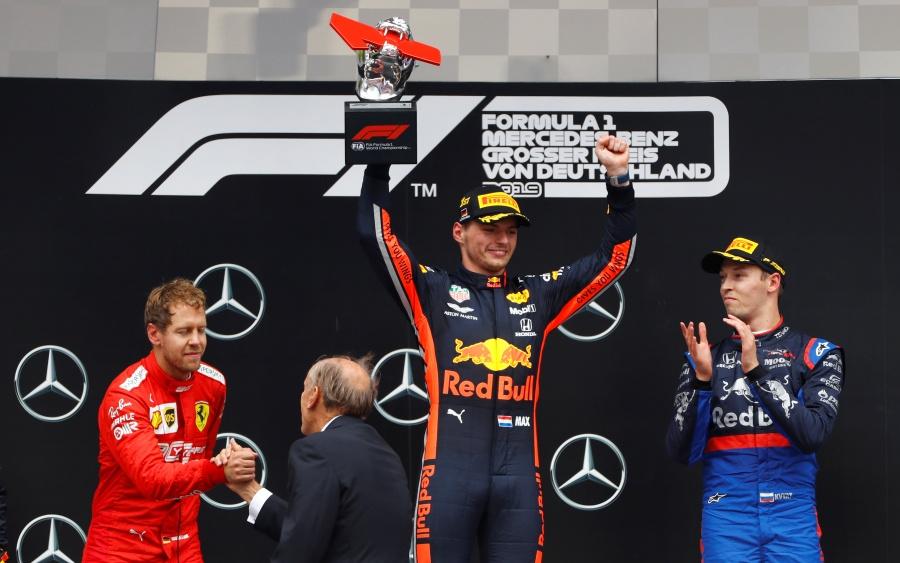 Pese a la lluvia Max Verstappen se lleva el Gran Premio de Alemania