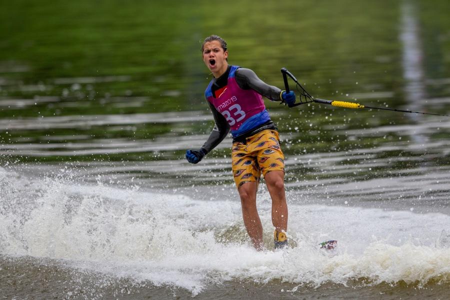 Patricio Font Nelson gana oro en esquí de figuras en los Panamericanos 2019