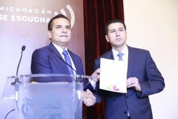 Aureoles nombra a Israel Patrón Reyes, como nuevo titular de la SSP Michoacán