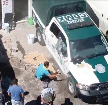A Policía se le hizo fácil pintar patrulla: Orta