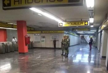 Guardia Nacional vigila cinco líneas del Metro en CDMX