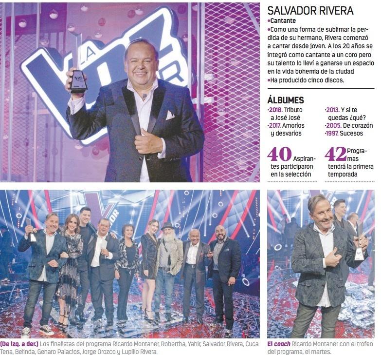 Salvador Rivera alista show en el Lunario por triunfo en La Voz