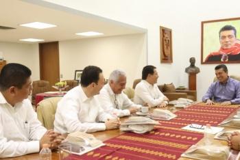Diputados Federales de Morena se reúnen con el gobernador de Chiapas
