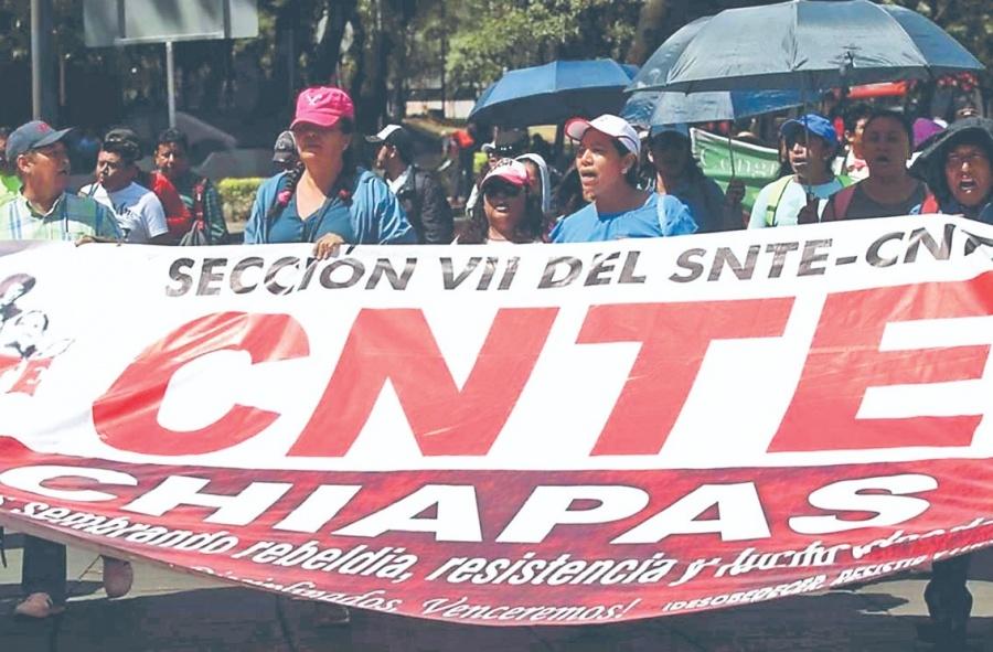 CNTE EN Chiapas define hoy paro indefinido de labores