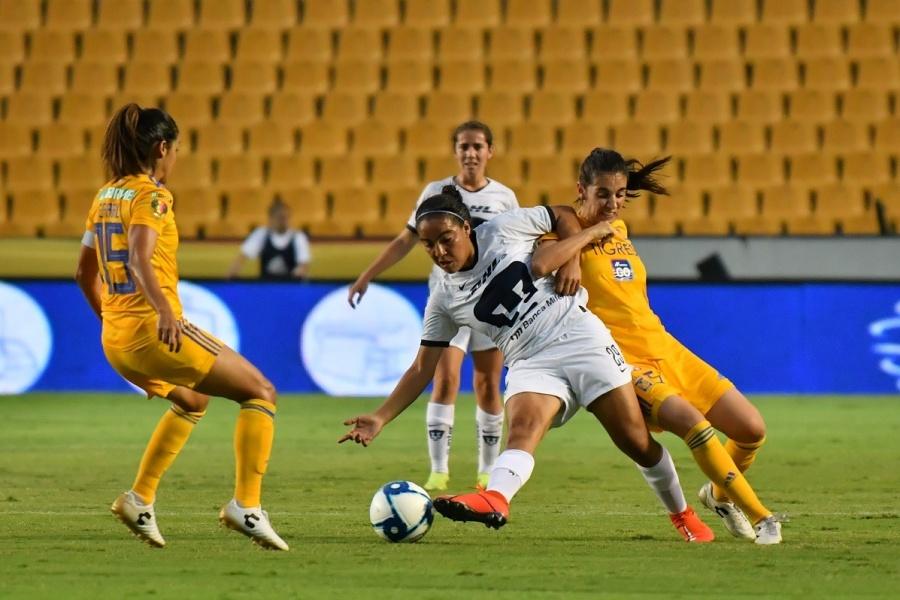 Empatan a cero Pumas y Tigres en la Liga MX Femenil