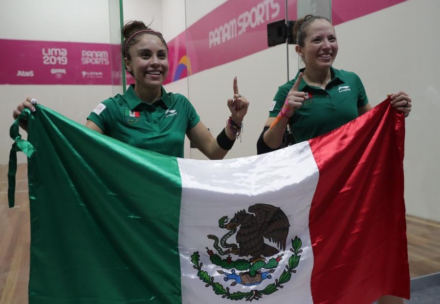 Paola Longoria y Samantha Salas, ganan oro en ráquetbol de dobles en Lima 2019