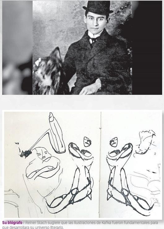 Dibujos y textos inéditos de Kafka ocultos son publicados en Internet