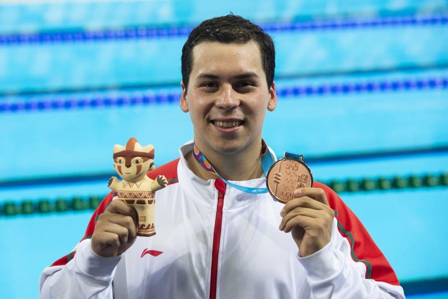 Ricardo Vargas gana segundo bronce para México en natación