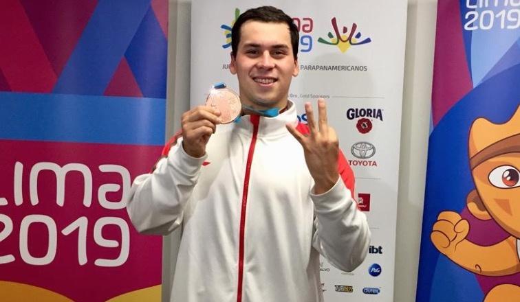 Lima 2019: Ricardo Vargas gana bronce en mil 500 metros de natación