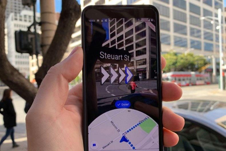 Google Maps implementa opciones de realidad aumentada