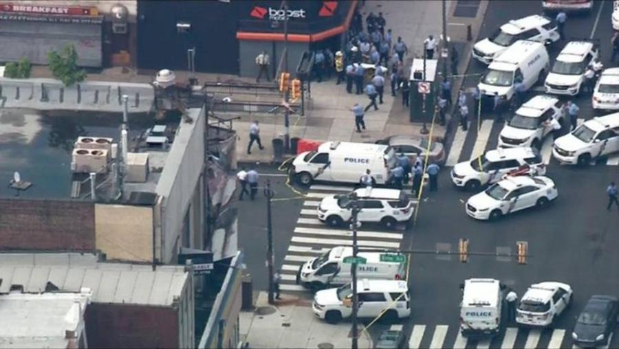 Tiroteo en Filadelfia deja a tres policías heridos