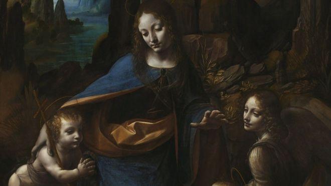 """Descubren composición abandonada en la """"Virgen de las Rosas"""" de da Vinci"""