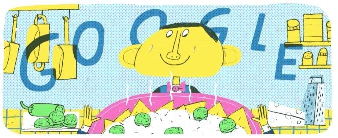 """Doodle celebra a Ignacio Anaya, el creador de los """"nachos"""""""