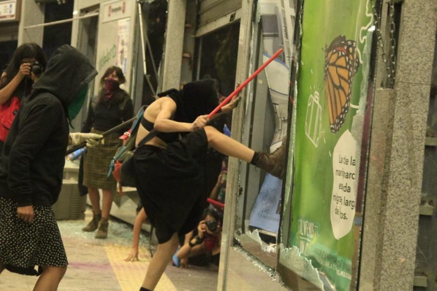 Sin impunidad en la CDMX luego de vandalismo provocado durante marcha feminista