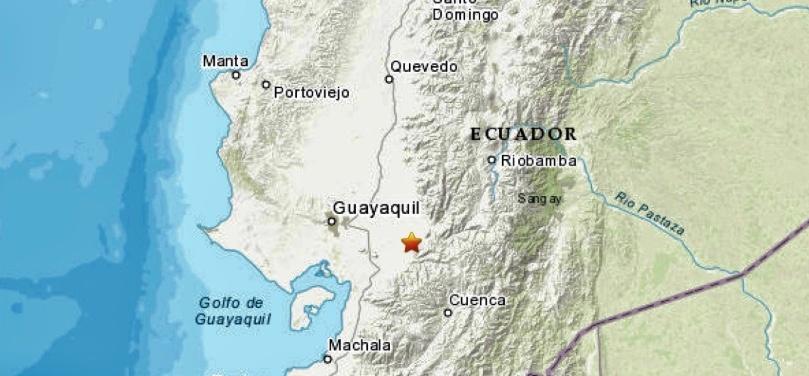 Sismo de 5.1 grados sacude a Ecuador