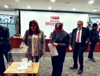 Bancada de Morena inicia votación para elegir a candidato a presidente del Senado