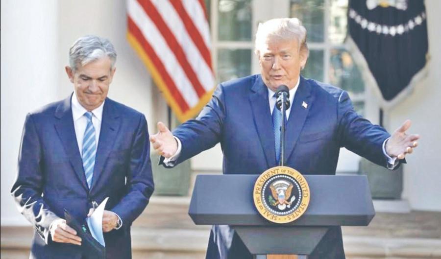 Trump insiste a la Fed bajar la tasa de interés