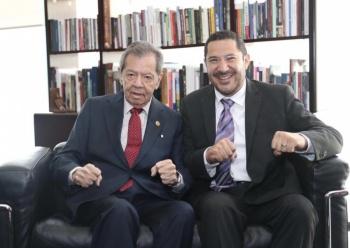 """Muñoz Ledo y Batres """"unidos contra el golpismo"""""""