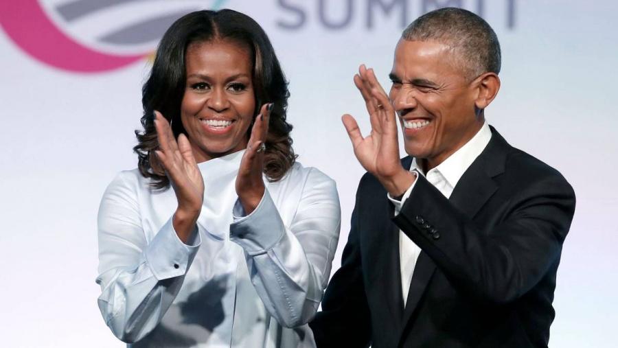 Barack y Michelle Obama hacen debut cinematográfico en Hollywood
