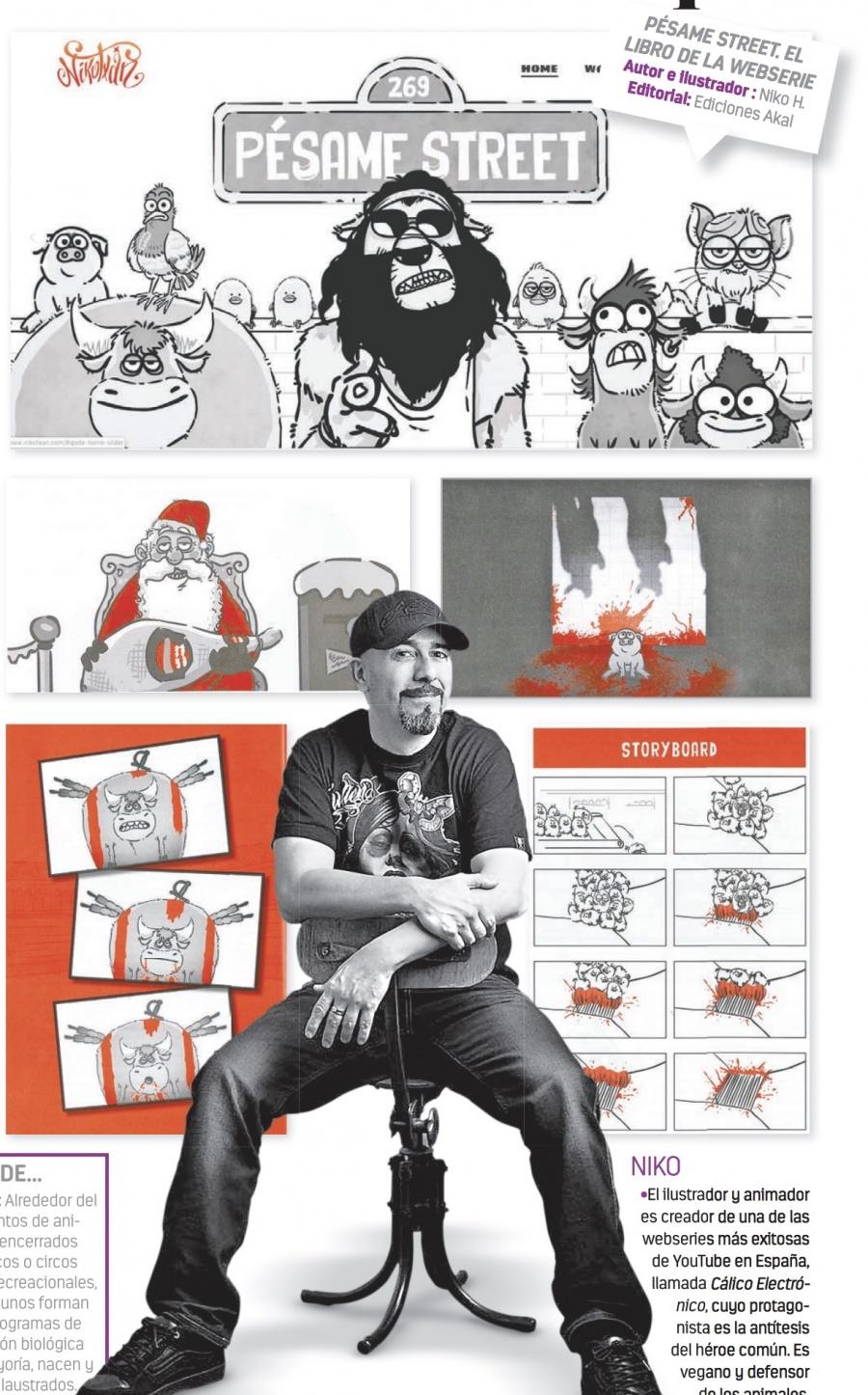Con libro de webserie y humor, artista vegano denuncia la tauromaquia