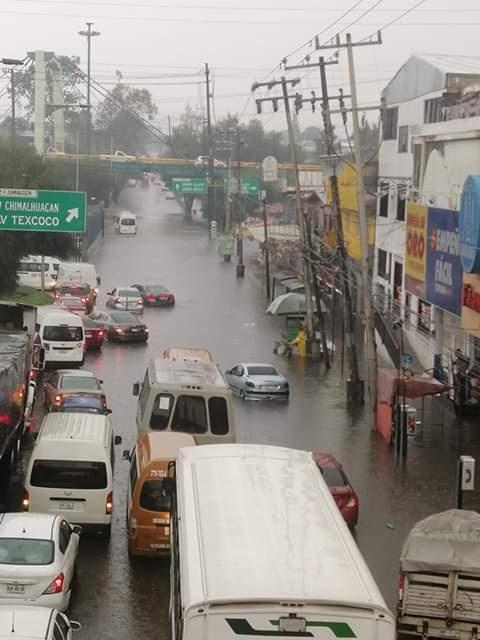 Alcaldía Iztapalapa, afectada por las lluvias de este viernes