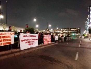 Bomberos amenazan con huelga de hambre