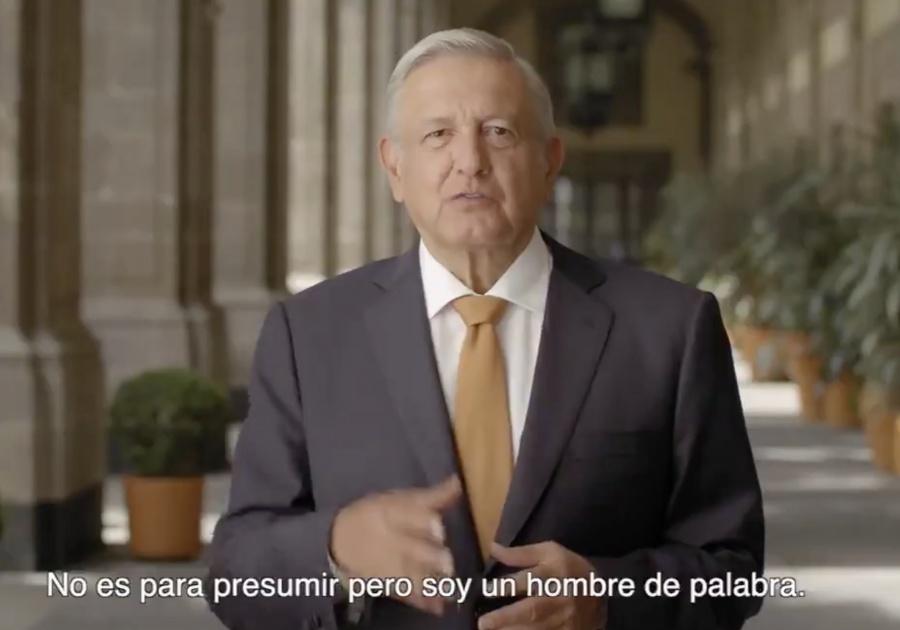 """""""No es para presumir"""", la frase de AMLO en sus spots para el Informe de Gobierno"""