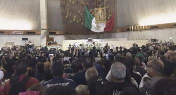 Trasladan cuerpo de Celso Piña llega a la Basílica de Monterrey