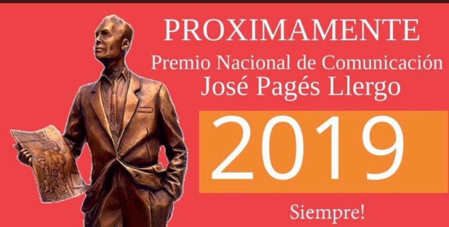 Lanzan convocatoria al Premio Nacional de Comunicación José Pages Llergo
