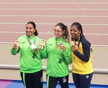 Lucía Muro y Karla Cárdenas, ganan oro y plata en 100 metros planos en los Parapanamericanos