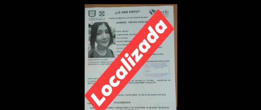 Localizan con vida a estudiante desaparecida el pasado lunes
