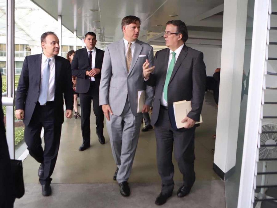 Ebrard y Durazo sostienen reunión con el nuevo embajador de EU en México