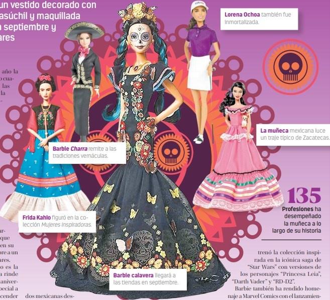 Barbie vuelve a rendir tributo a México... ahora vestida de Catrina