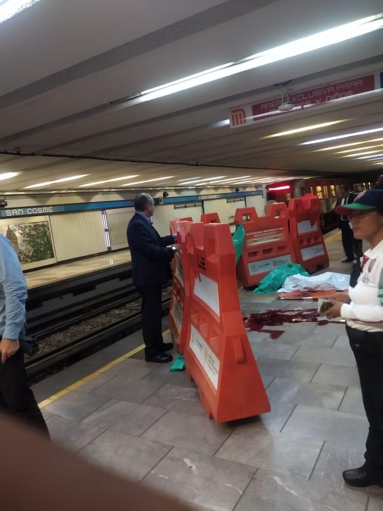 Pierde la vida jefe de estación en Metro San Cosme