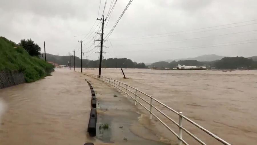 Debido a lluvias torrenciales, Japón emite alerta máxima
