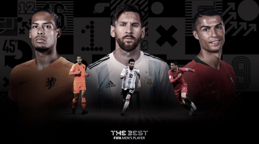 Messi, Cristiano Ronaldo y Van Dijk, nominados al The Best