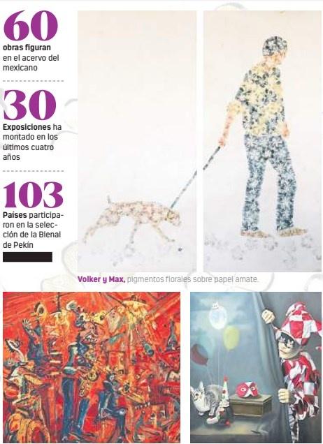 Mexicano sorprende en la Bienal de Pekín con pieza de la flor del amor