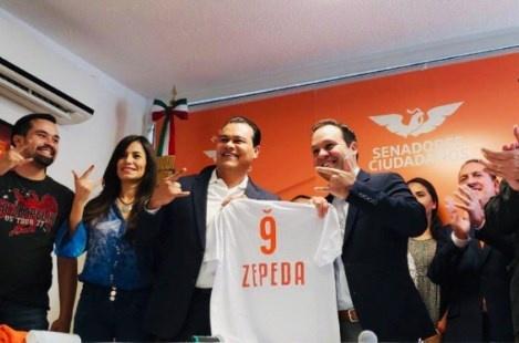 Tras salir del PRD, Zepeda se suma a Movimiento Ciudadano