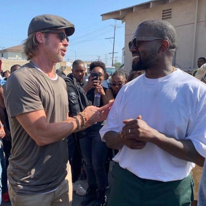 Brad Pitt asiste a los eventos religiosos de Kanye West