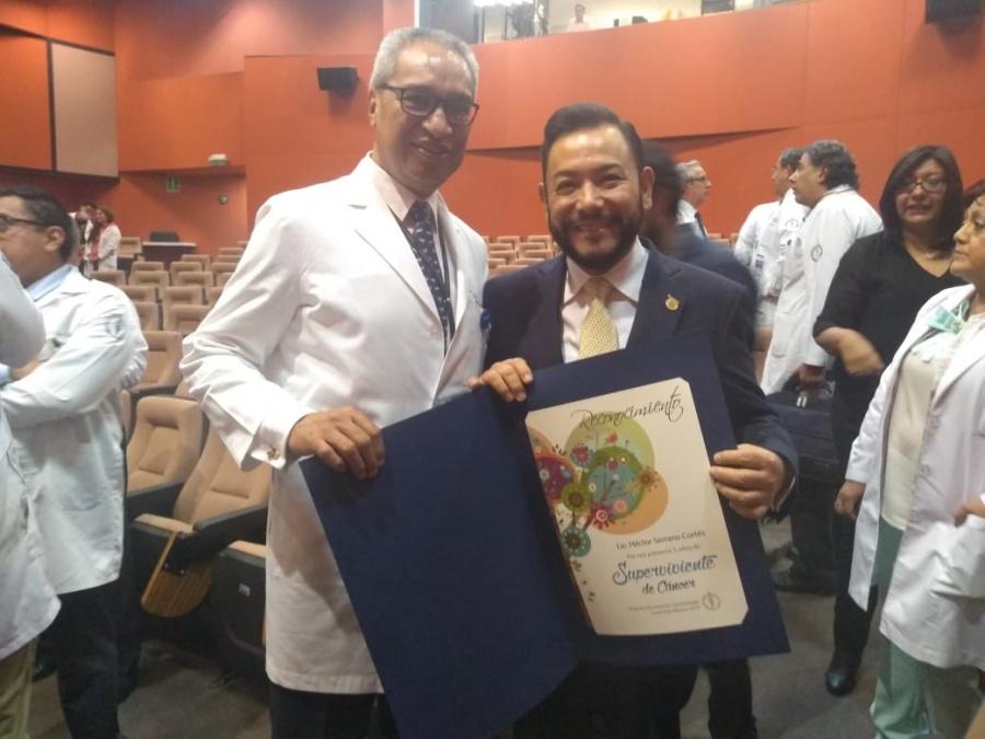 Reconocen al diputado Héctor Serrano por su lucha contra el cáncer