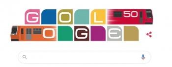 Google celebra los 50 años del Metro de la CDMX