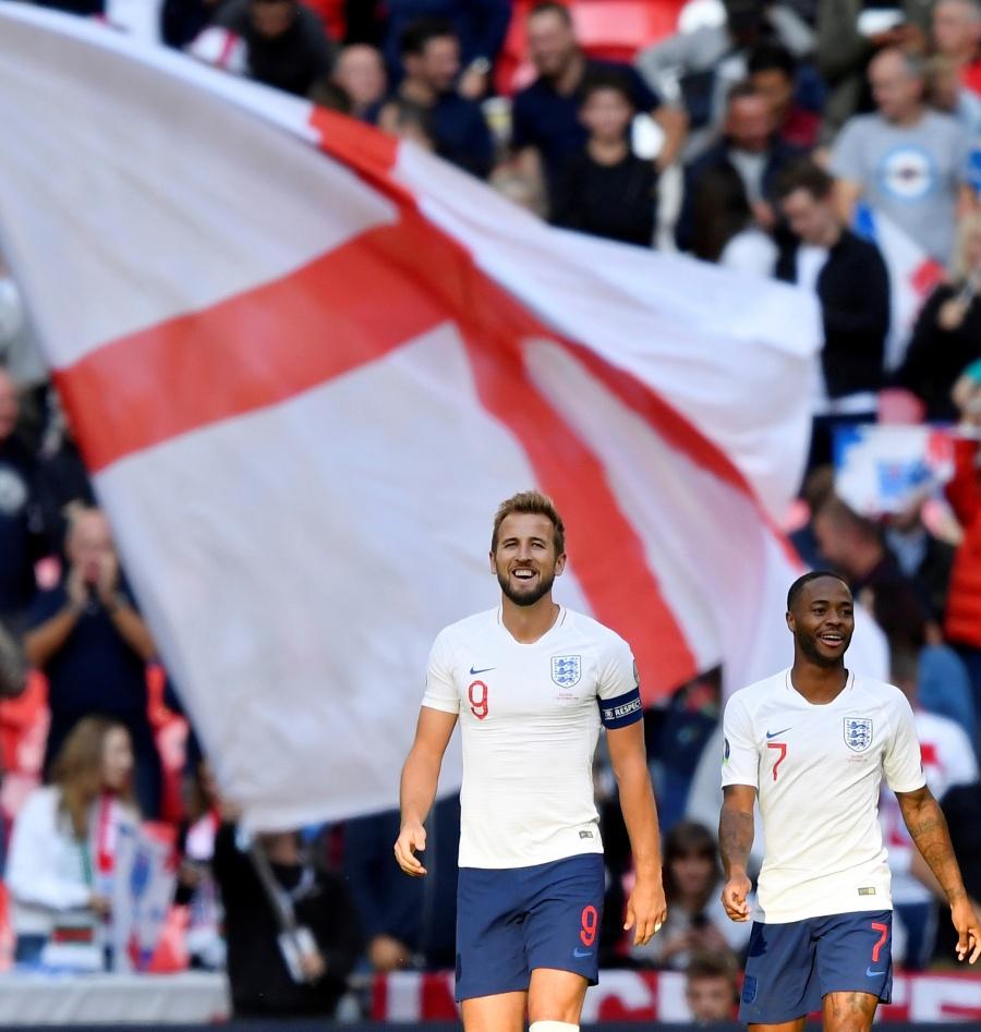 Harry Kane se encarga de destrozar a Bulgaria rumbo a la Euro 2020